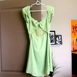 Spring Polka Dot Lime Green Dress